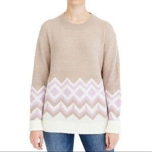 J Crew Geometric Fair Isle Sweater